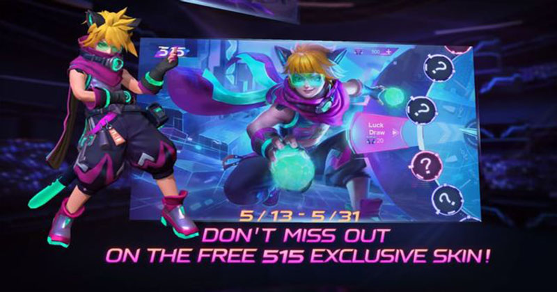 Mobile Legends: Bang Bang 515 Eparty Event has been launched