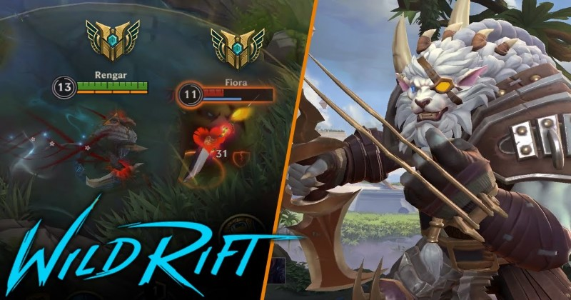 LOL Wild Rift Rengar Gameplay