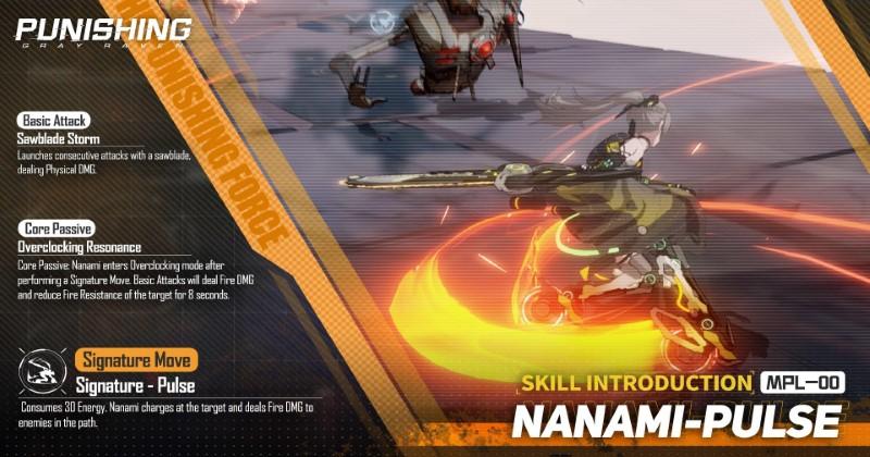Punishing-Gray Raven Nanami Skills and Abilities
