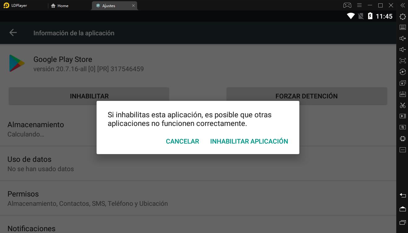 Restablezca Google Play y reduzca la carga de la CPU cuando usa LDMultiPlayer