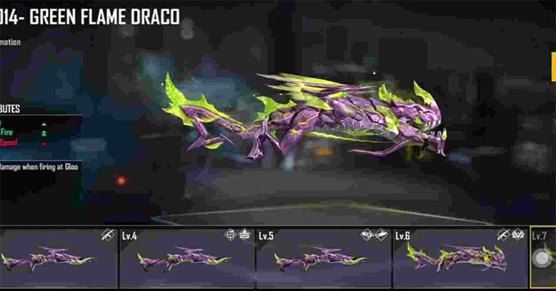 Free Fire: Bagaimana cara mendapatkan skin Gun Green Flame Draco M1014 terbaru?