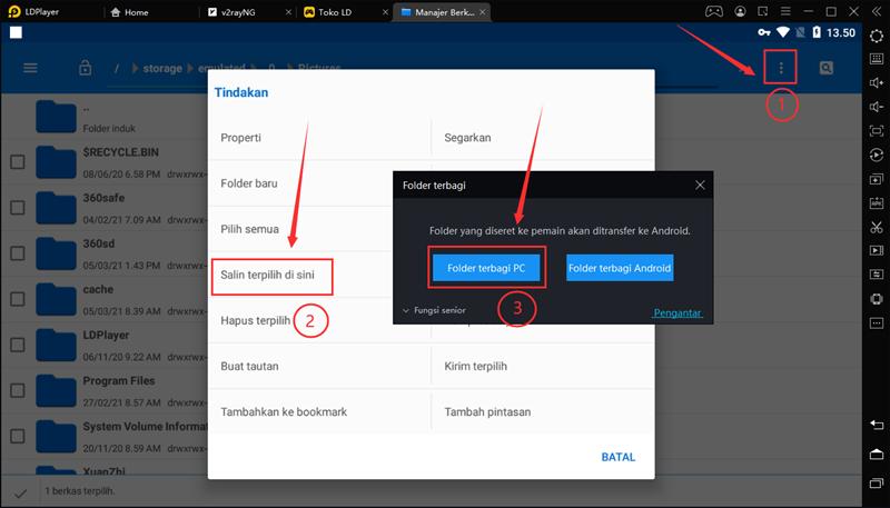 Cara install , ekstrak paket instalasi apk aplikasi dan game di LDPlayer