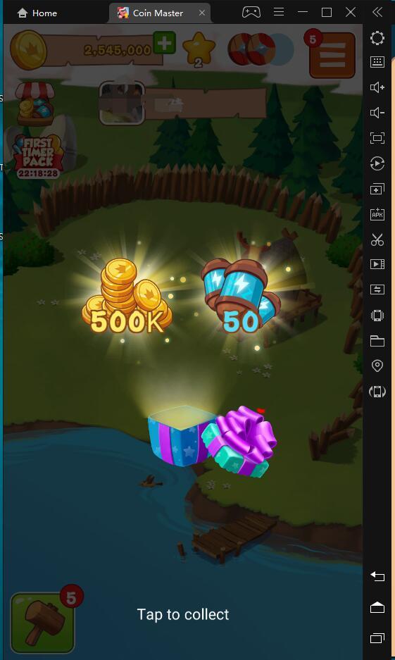 Coin Master-bergantung pada LDPlayer untuk menggesek teman guna mendapatkan sumber daya dengan cepat