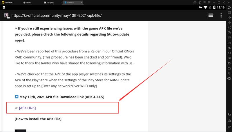 Bagaimana cara mengunduh dan menginstal paket instalasi khusus emulator Kings Raid?