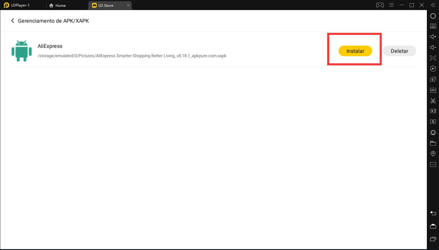 Como instalar o XAPK no LDPlayer