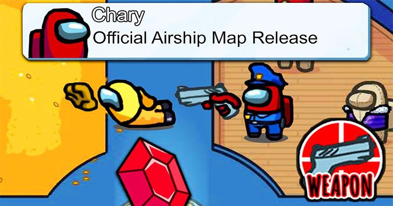 Among US - Atualização oficial do mapa do dirigível