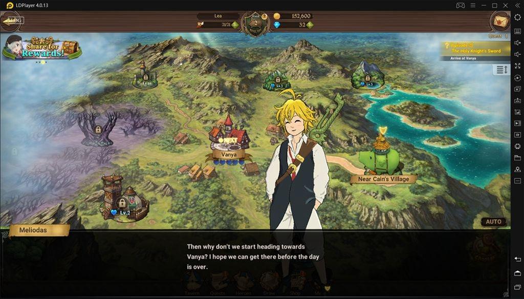 Como jogar The Seven Deadly Sins: Grand Cross no PC