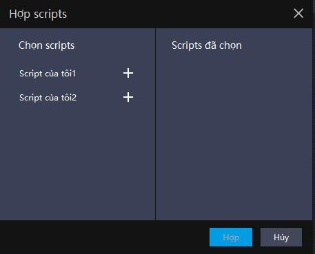 [Ghi lại thao tác] Các thao tác có thể đạt được bằng cách kết hợp các script | Mẹo thiết lập